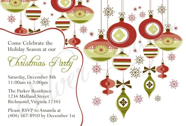 022 Christmas Invite Template Gse Bookbinder On Free Party