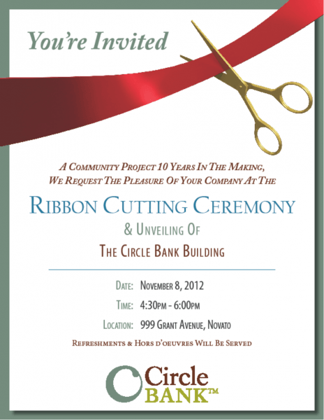023 Ribbon Cutting Ceremony Invitation Samples Inspirational