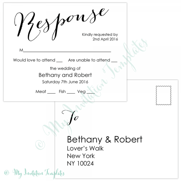 024 Rsvp Postcard Template Best Reference Of Free Invitation