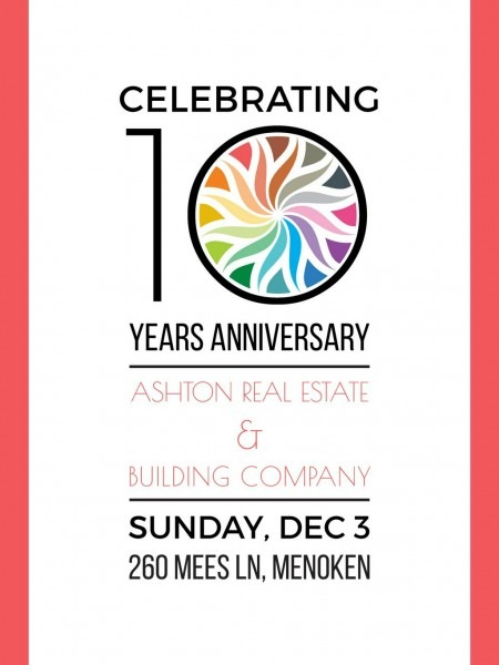 Celebrating 10 Years Anniversary Invitation Poster Us 18x24in