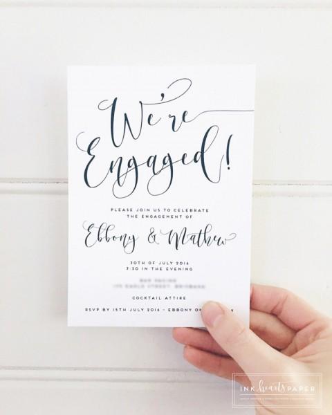 Engagement Invitations Wedding Invitations Wedding Stationery