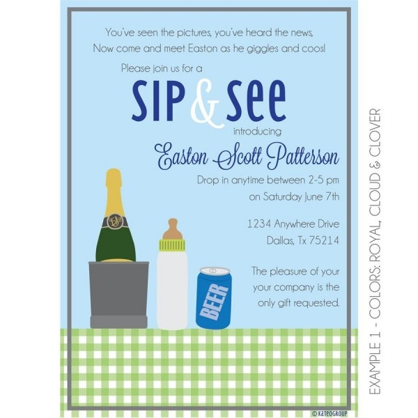 This Boozy Sip And See Invitation Is Perfect For Introducing Your