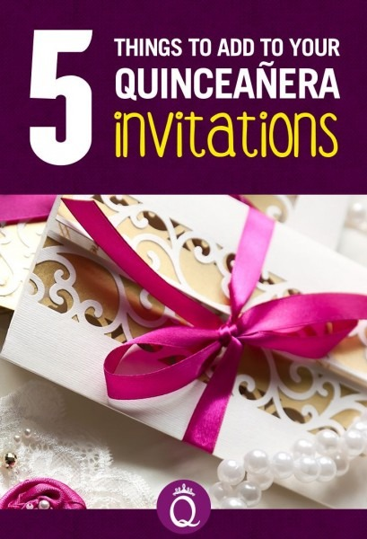 5 Things To Add To Your Quinceanera Invitations