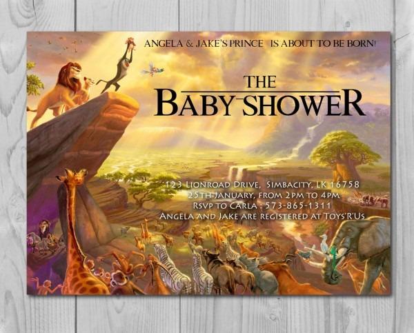 Lion King Baby Shower Invitation, Jungle Invitation, Disney Invite