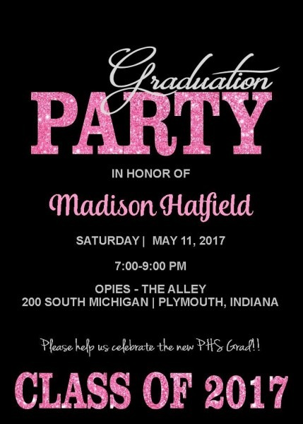 Cool Pink Grad Party Invite  Get It Done Your Way! Give Us A Call