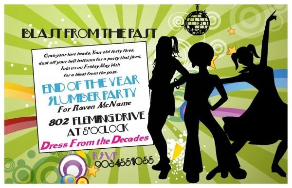 Decades Party Invitation