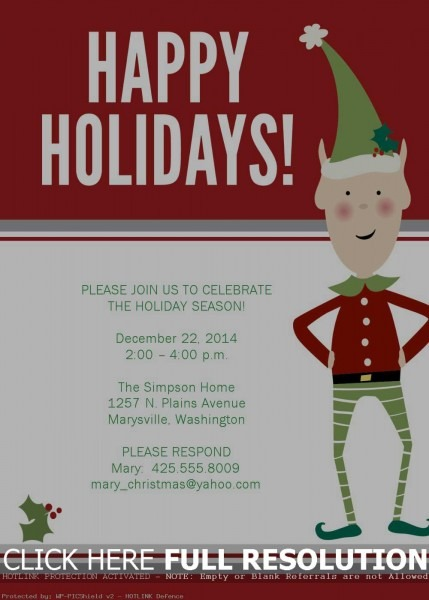 Company Christmas Party Invitation Templates Best Images About