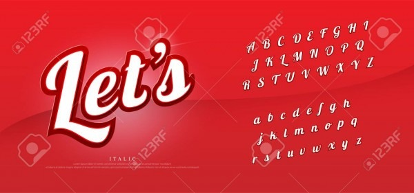 Vector Elegant Alphabet Letters Set  Exclusive Custom Letters