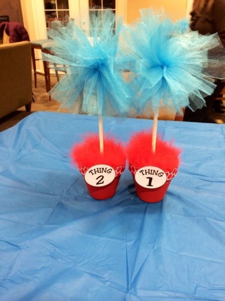 Dr  Seuss Thing One And Thing Two Twin Baby Shower