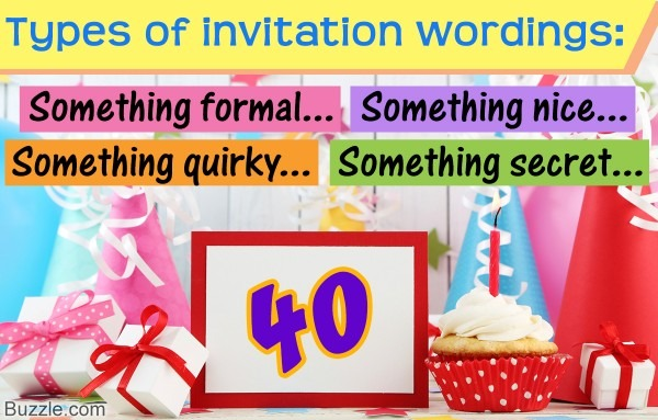 40th Birthday Invitation Wordings That'll Impress Your Guests