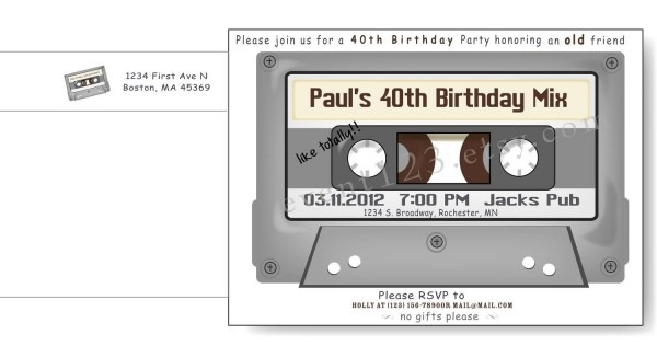 Cassette Tape Invitation By Event123 On Etsy, $1 45