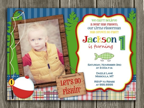 Fishing Birthday Invitation