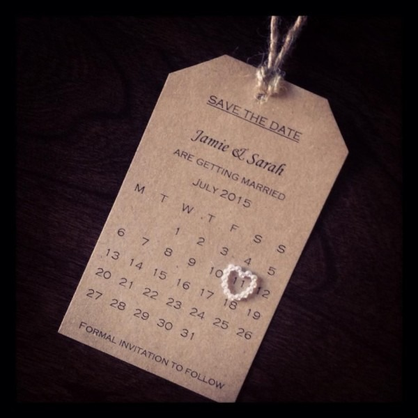 Save The Date  Wedding  Homemade  Simplicity