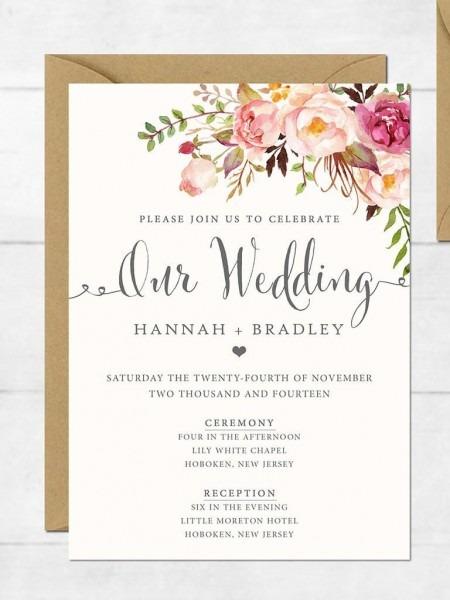 Wedding Invitation Card Designs Pinterest