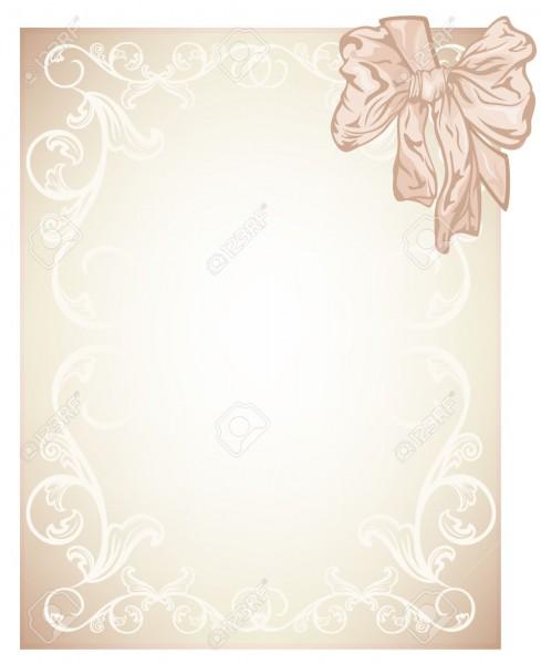 Elegant Beige Blank For Wedding, Invitation Or Certificate Card
