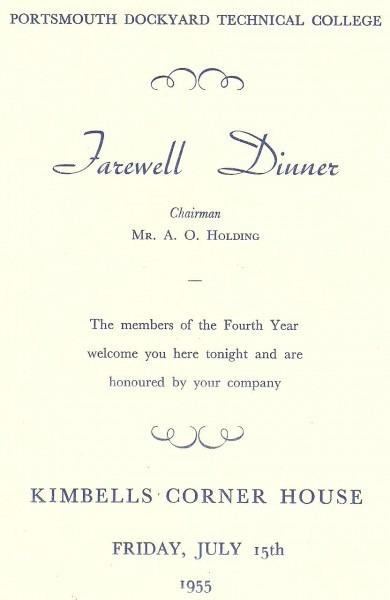 Farewell Dinner 1955