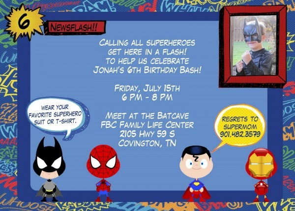Superhero Party Invitations Template Best Template Collection