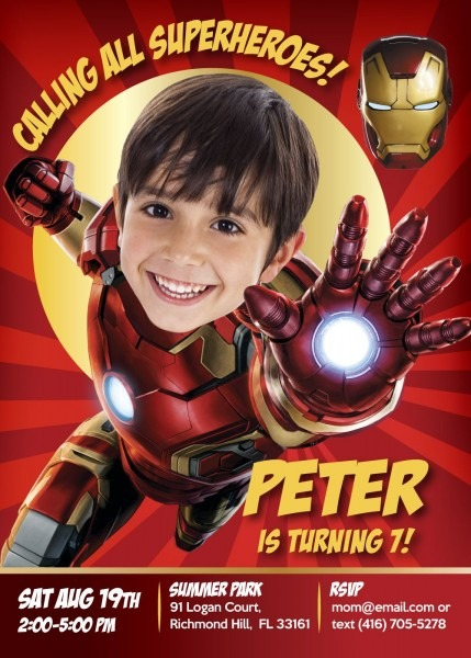 One Of My Favorites  Iron Man!!! Please Share With All The Little