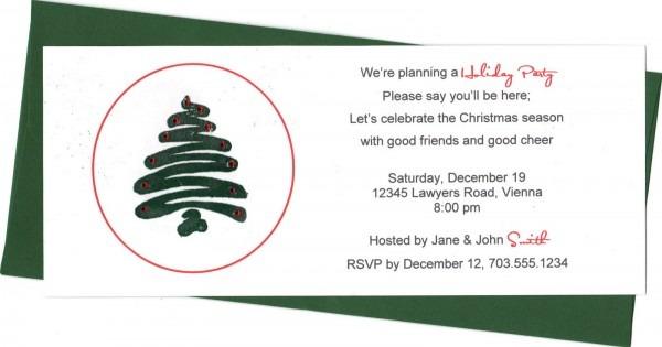 Holiday Invite Wording Ideas
