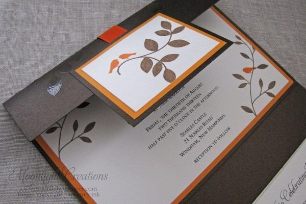 Love Birds Bronze And Orange Wedding By Moonlightstamper On Etsy