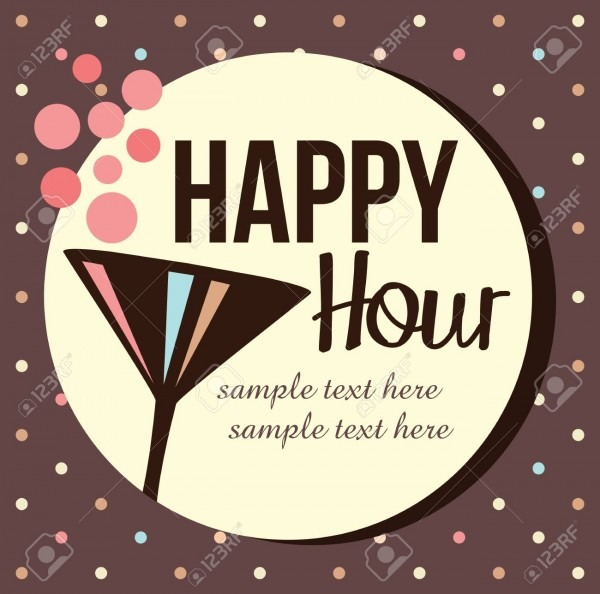 Vintage Cocktail Party Invitation Royalty Free Cliparts, Vectors