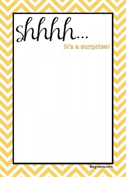 Free Printable Surprise Birthday Invitations – Bagvania Free