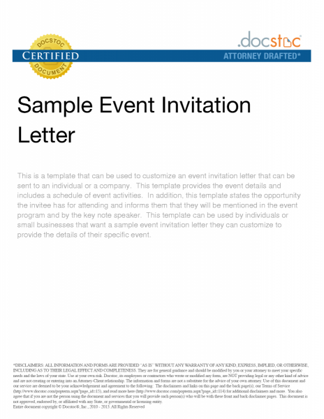 Business Event Invitation Letter Sample Maintenance Contract