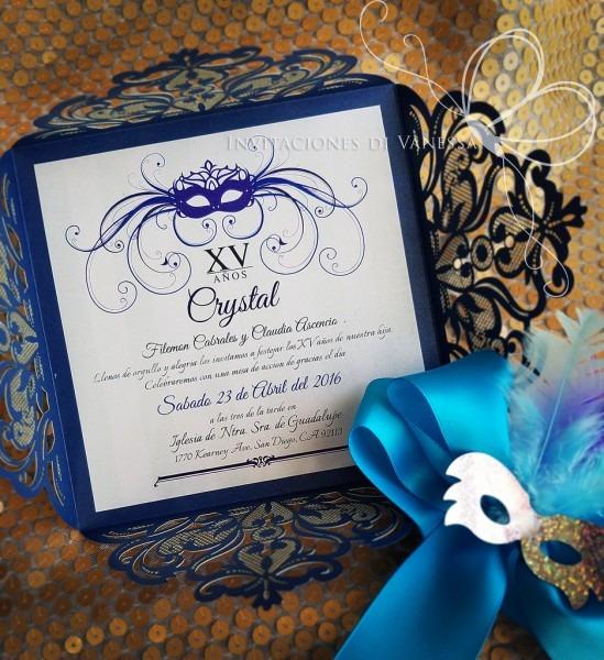 Masquerade Quinceanera Invitation