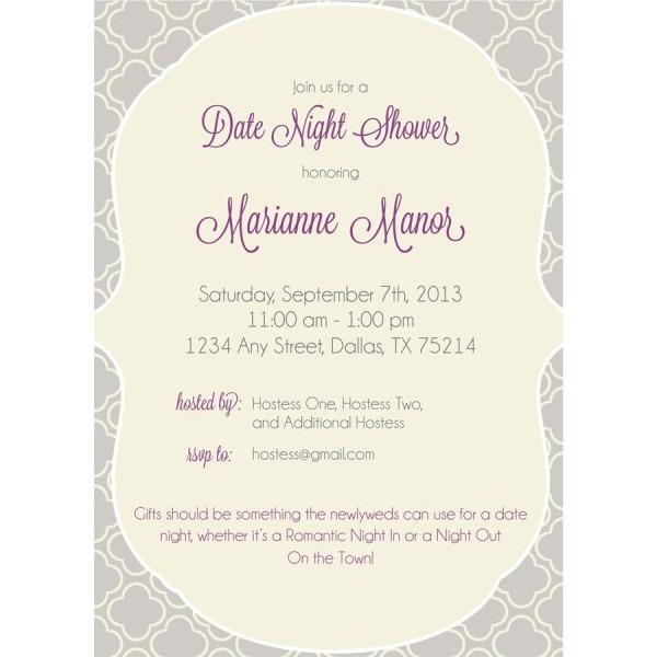 Date Night Bridal Shower Invitations