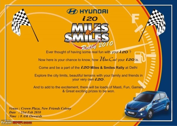 Hyundai 'miles & Smiles' Rally 2010(21st Feb 2010)!! Any Bhpians