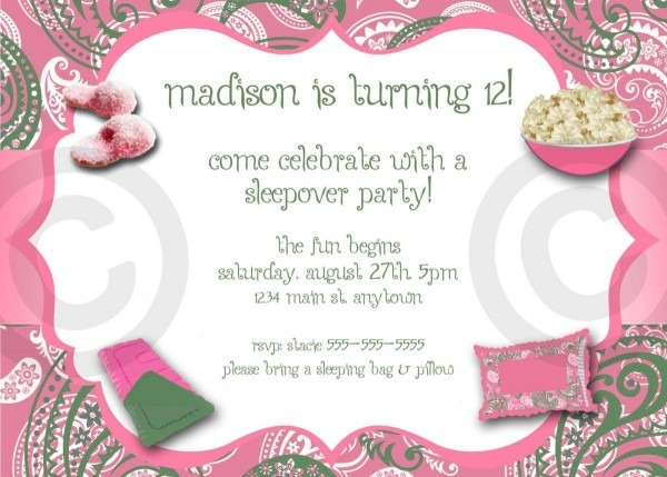 Adult Pajama Party Invitations