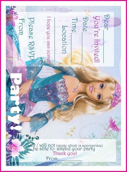 Barbie Coloring Pages  Free Printable Princess Barbie Birthday