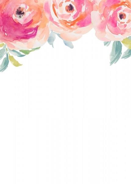 Stripes + Sweets  Friday Freebie  Blank Floral Invitation