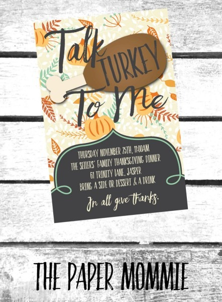 Thanksgiving Invitation, Friends Thanksgiving Invitation