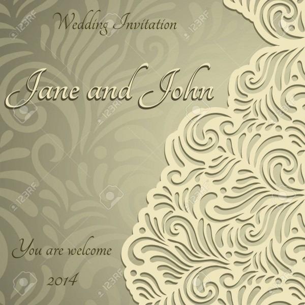 Elegant Stylish Wedding Invitation, Floral