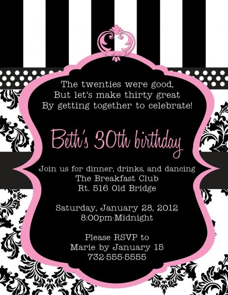 30th Birthday Invitations For Her From Ildestudio Is Fascinating