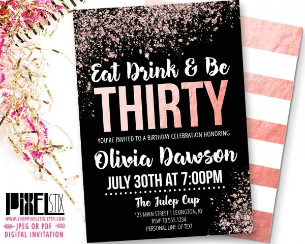 30th Birthday Party Invitations For Her From I And Get Ideas To