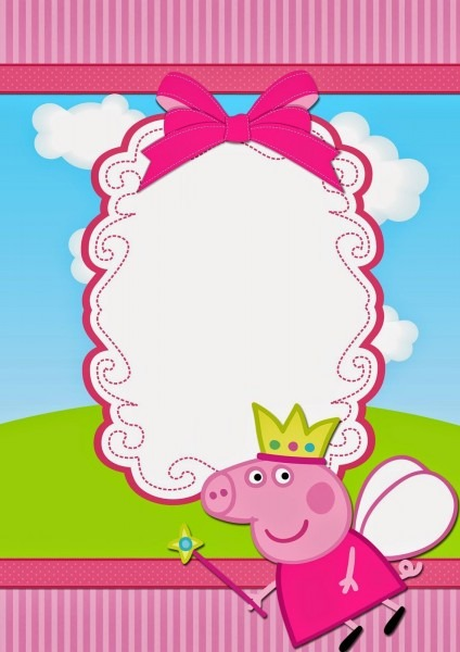 Peppa Pig Fairy  Free Printable Invitations
