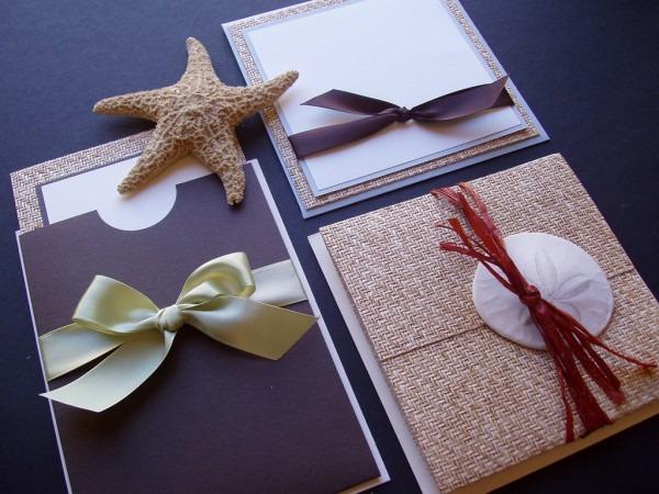 Japanese Cane Paper (basho) Wedding Invitations