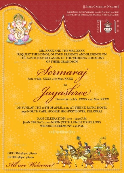 Image For Hindu Wedding Invitations Templates