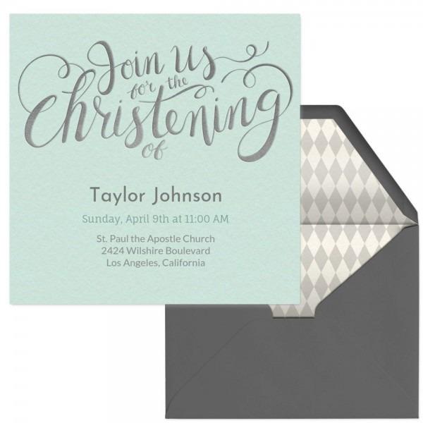 Celebrate A Christening With This Premium Evite Invitation
