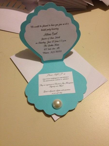 Pearls And Tea Bridal Shower Invitation Mermaids  Under The Sea