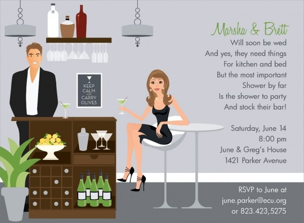 Bar Scene Brunette Stock The Bar Invitation By Noteworthy