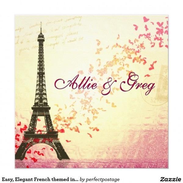 Easy, Elegant French Themed Invitation Template