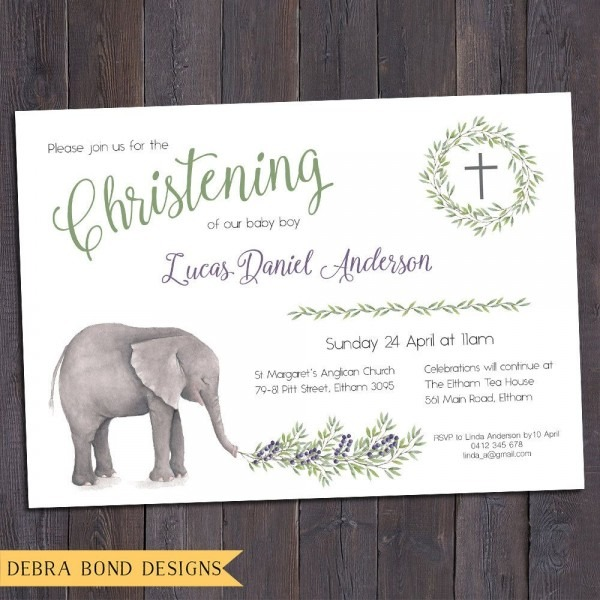 Christening Invitation, Baptism Invitation, Naming Invitation, Boy