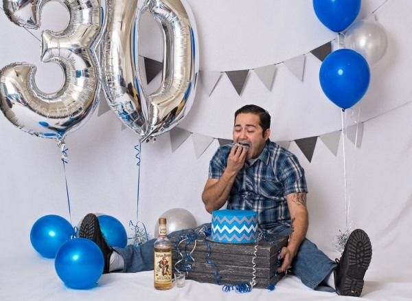 Funny 30 Year Old Male Cake Smash Photography Session With Captain