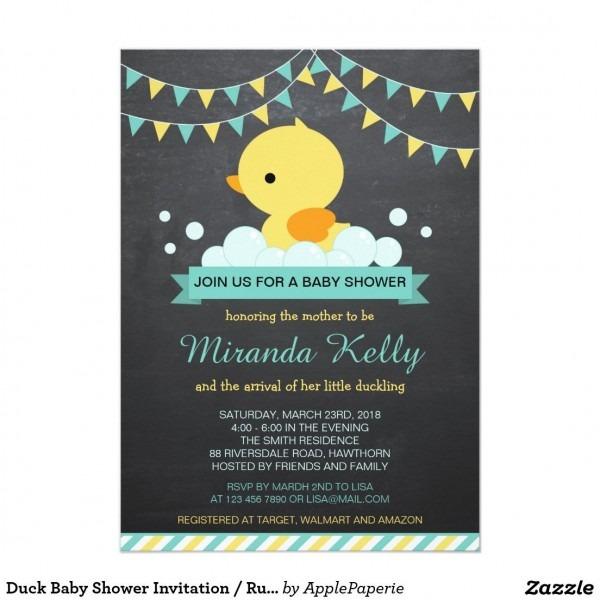 Duck Baby Shower Invitation   Rubber Duck Invite