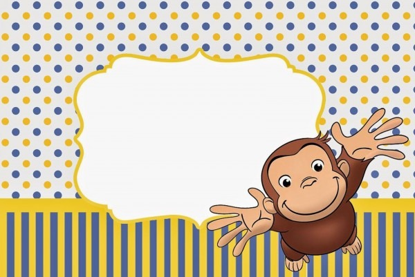 Nice Free Printable Curious George Baby Shower Invitation Template