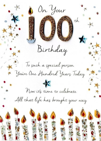 On Your 100th Birthday Greeting Card