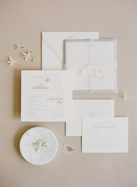 Modern Copper, Vellum, Wedding Invite Set Cheer Up Wedding